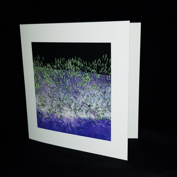 Glass Pebble Neon Shower Square Greeting Card